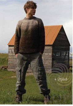 Útjörð (Earth) Mens Wool Sweater Brown - Tailor Made - Wool Sweaters  - 1