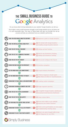 The small business guide to Google Analytics #infographic