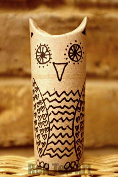 TP Roll Owl - these are so super simple and fun to make. We call these doodle owls.. as you get to just doodle all over them. Make one. Make many! Maybe even fill with some little owl treats!