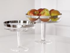 Fink Living Glas-Schale mit Fuß Platinum kaufen im borono Online Shop