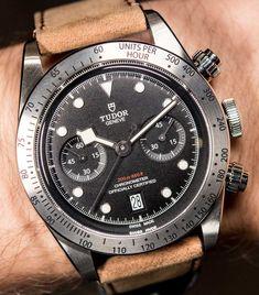 Tudor Heritage Black Bay Chronograph Watch Hands-On Hands-On