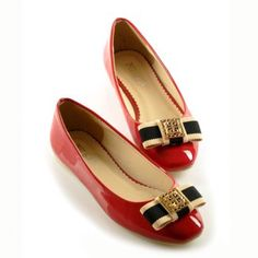 Elegant Square Toe and Bowknot Design Women's Flat Shoes. Qute!!!