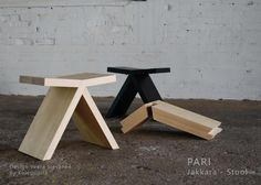 Great stool design from Finland by Hienopuusepänliike Koivusipilä