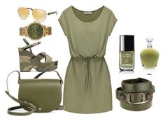 """""""Green en y"""" by isabelle-talbot on Polyvore featuring mode, Michael Kors, Yves Saint Laurent, Tory Burch, Nixon, Balenciaga, Chanel et EB Florals"""