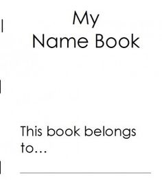 Each school year, I like to create a name book for my preschool students to use. I put them together with all kinds of materials but to simplify things for my readers, I created this little name book template. Getting Started I create a book for Kindergarten Names, Preschool Names, Name Activities, Preschool Education, Preschool Printables, Preschool Lessons, Kindergarten Literacy, Preschool Learning, Writing Activities