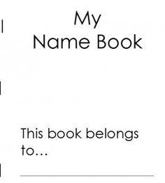 My name book: A preschool printable