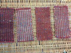 Pick and pick wool and organza ribbon.