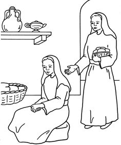 Craft for bible story of Mary and Martha It says quot Time
