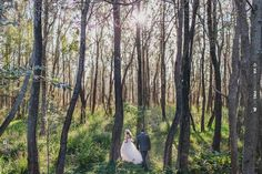 stunning image of a bride and groom walking through the woods   CHECK OUT MORE IDEAS AT WEDDINGPINS.NET   #weddings #weddinginspiration #inspirational