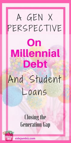 A Gen X and Millennial debt comparison. Paying off student loans, trying to pay bills, keep your head above water, and everything in between. #debtpayment #studentloans #money