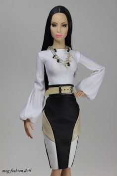 *Meg* outfit for Sybarite/Sybarite Gen X/Numina Crochet Barbie Clothes, Doll Clothes Barbie, Barbie Dolls, Bad Barbie, Barbie Hair, Barbie Style, Barbie Fashionista Dolls, Tunic Tank Tops, Handmade Clothes
