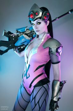 Are you looking for new cosplay ideas from your favorite Overwatch characters? Here is our compilation of best Widowmaker cosplay from Overwatch. Roller Coaster Tycoon, Playstation, Xbox, Dragon Quest, Red Dead Redemption, Amazing Cosplay, Best Cosplay, Black Ops, Black Widow