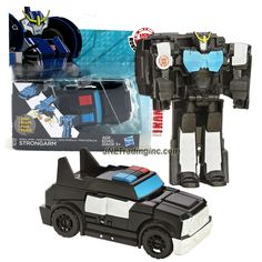 Hasbro Year 2014 Transformers Robots in Disguise Animation Series One Step Changer 5 Inch Tall Robot Action Figure - Autobot Patrol Mode STRONGARM (Vehicle Mode: Police Cruiser)
