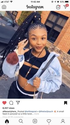 35 Stunning Feed in Braids Hairstyles To Try This Year! - Part 43 - - 35 Stunning Feed in Braids Hairstyles To Try This Year! - Part 43 # one feed in Braids Box Braids Hairstyles, Braided Ponytail Hairstyles, Black Hairstyles, Protective Hairstyles, Protective Styles, Woman Hairstyles, Hairstyles Pictures, School Hairstyles, Trendy Hairstyles