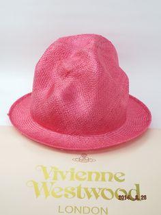 ヴィヴィアンウエストウッド ワールズエンド ストロー マウンテンハット ピンク