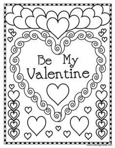 15 Valentine's Day Party Games for Kids: Valentine's Day Coloring Pages