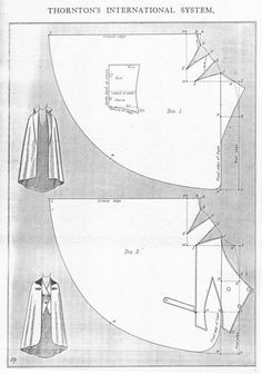 -Original- Pre 1929 Historical Pattern Collection — Cavalier cape, mid to late with complete. - -Original- Pre 1929 Historical Pattern Collection — Cavalier cape, mid to late with comple - Techniques Couture, Sewing Techniques, Pattern Cutting, Pattern Making, Vintage Sewing Patterns, Clothing Patterns, Shirt Patterns, Dress Patterns, Sewing Hacks