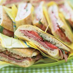 Pressed Mediterranean Sandwiches Recipe | MyRecipes.com