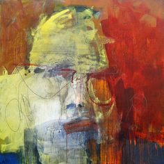 Catherine Woskow HEAD SERIES 01 2009 acrylic and mixed media on wood panel 48 x…