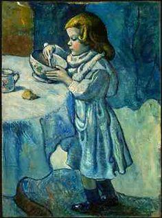 Le Gourmet | Picasso, Blue Period, 1901