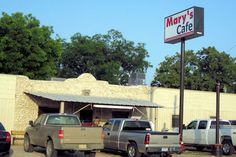 this one goes on my bucket list.  Eating at Mary's cafe in Strawn, Texas.