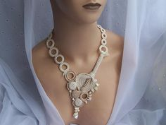"Necklace   Dainty Crochet By Aly. ""Infinite beauty"""