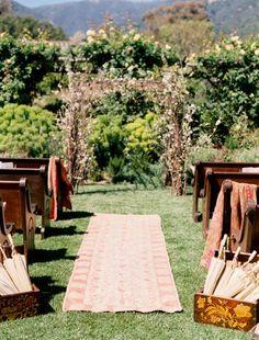 twigs and sticks wedding altar tabernacle