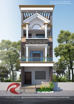 Rc Visualization is a growing Plan & Elevation Designing company in Indore India. We are expert in architectural Planning, Elevation Designs, interior designs and realistic renderings. House Structure Design, House Front Wall Design, Village House Design, House Outside Design, Small House Design, Narrow House Designs, Modern Exterior House Designs, Cool House Designs, Indian House Exterior Design