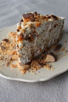 Perfect Peanut Butter Butterfinger Pie.