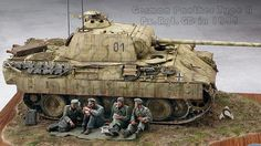 Panther, Modeling Techniques, Model Tanks, Military Modelling, Ww2 Tanks, Military Diorama, Military Weapons, Scale Models, Military Vehicles
