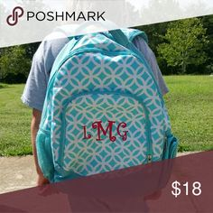 💕V DAY SALE!💕Backpack Monogram LMG Backpack with monogram LMG in hot pink. Lots of compartments, great condition. All zippers work. Accessories Bags