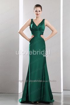 Simple Dark Green #Bridesmaid #Dress