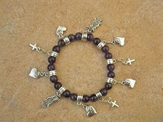 Amethyst mystical love charm bracelet - Beautiful piece of jewelry with meaning - this mystical love charm bracelet made of Amethyst