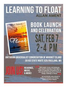 [February 7, 2015] Allan Ament will be hosting a book launch and celebration for his latest release, LEARNING TO FLOAT: MEMOIR OF A CAREGIVER HUSBAND.
