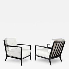 Ebonized T.H. Robsjohn-Gibbings for Widdicomb Lounge Chairs by T.H.  Robsjohn-Gibbings
