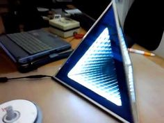 Infinity Mirror Pyramid - YouTube