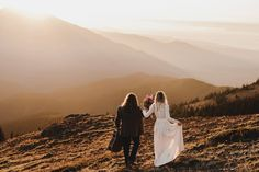 Golden hour wedding portraits in Olympic National Park | Image by Noelle Johnson