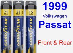Front & Rear Wiper Blade Pack for 1999 Volkswagen Passat - Assurance