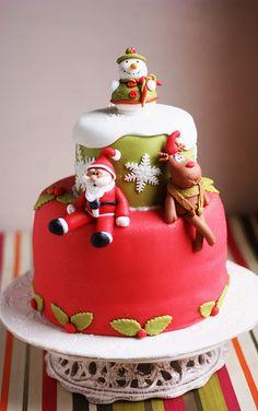 Snowman cake by kdjokova, via Flickr