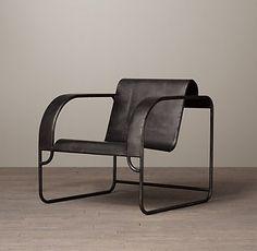 Waterfall Chair by RH Home Decor Furniture, Cool Furniture, Vintage Furniture, Home Furnishings, Furniture Design, Metal Chairs, Cool Chairs, Lounge Chairs, Restaurant Chairs