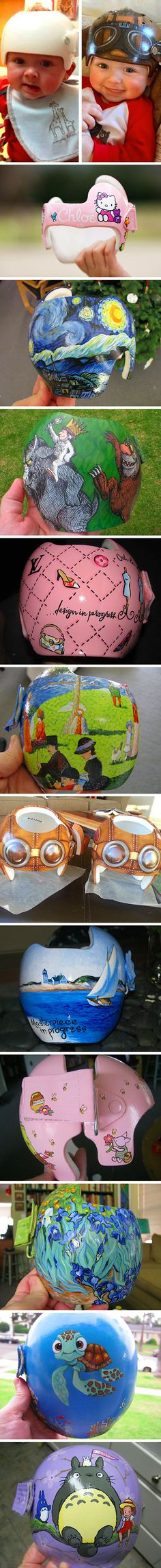 Geeky Artist Transforms Babies Corrective Helmets Into Works of Art