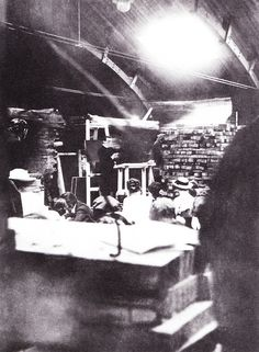 rudolf steiner | Steiner lecturing in the carpenter's workshop of the first Goethaenum