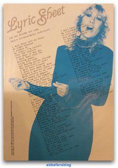 "Song lyrics for Abba's single ""The Day Before You Came""... #Abba #Agnetha http://abbafansblog.blogspot.co.uk/2016/12/abba-song-lyrics.html"