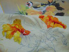 Peinture à l'aiguille réalisée par Roselyne. Catherine Laurençon