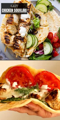 Best Chicken Recipes, Whole Food Recipes, Dinner Recipes, Best Pumpkin Muffins, Souvlaki Recipe, Lunches And Dinners, Meals, Chicken Souvlaki, Yummy Appetizers