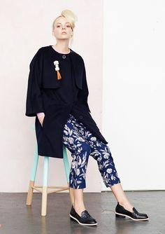 Gorman Online :: Winter 2015 Proportion: Bracelet length coat sleeves, cropped tapered pants.