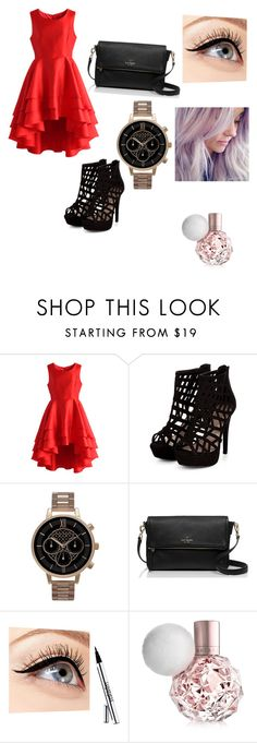 """""""Untitled #23"""" by glittergirl155 on Polyvore featuring Chicwish, Olivia Burton, Kate Spade and Luminess Air"""