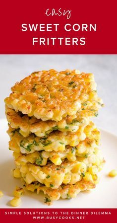 Our family's favorite easy sweet corn fritters recipe! These easy fresh sweet corn fritters are made in just ONE bowl. Our family's favorite easy sweet corn fritters recipe! These easy fresh sweet corn fritters are made in just ONE bowl. Creamed Corn Fritters Recipe, Cream Corn Fritters, Sweetcorn Fritters Recipe, Sweet Corn Fritters, Corn Fritter Recipes, Corn Patties, Fresh Corn Recipes, Grilling Recipes, Side Dishes