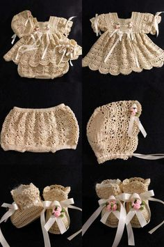 It is a website for handmade creations,with free patterns for croshet and knitting , in many techniques & designs. Crochet Baby Dress Pattern, Crochet Baby Cardigan, Baby Girl Crochet, Crochet Baby Clothes, Newborn Crochet, Crochet For Kids, Crochet Patterns, Vestidos Bebe Crochet, Diy Crafts Crochet