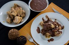 Курица с шоколадным соусом